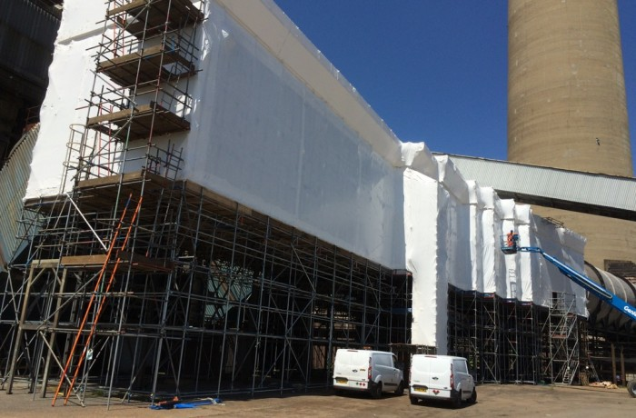 Shrink Wrap U.K. Encapsulate Kingsnorth Power station using VERISAFE